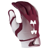 Under Armour Spotlight Football Gloves - Men's - Maroon / White