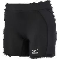 Mizuno Low Rise Sliding Shorts - Women's Softball - Black 3506549