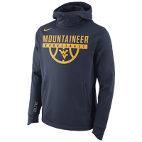 Nike College Elite Pullover Therma Hoodie - Men's - West Virginia  Mountaineers - Navy / Gold
