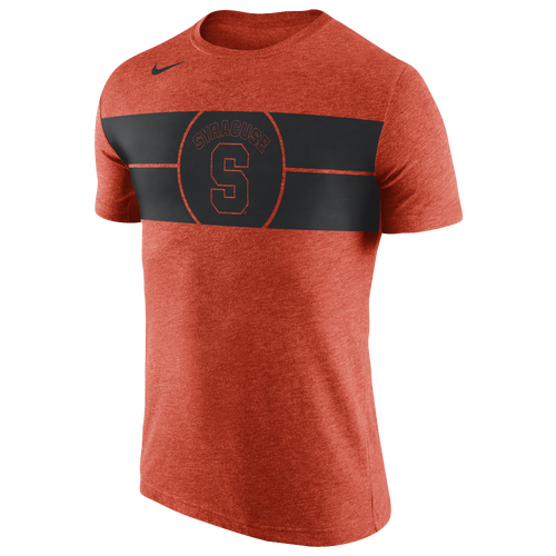 Nike college tri blend basketball logo t shirt men 39 s for Syracuse orange basketball t shirt