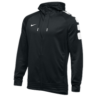 Nike Team Elite Stripe Full Zip Hoodie - Men's - Black / White