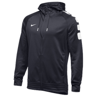 Nike Team Elite Stripe Full Zip Hoodie - Men's - Grey / White