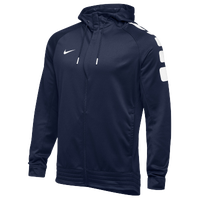 Nike Team Elite Stripe Full Zip Hoodie - Men's - Navy / White
