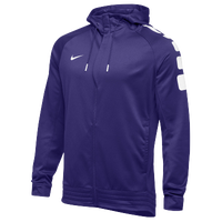 Nike Team Elite Stripe Full Zip Hoodie - Men's - Purple / White