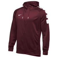 Nike Team Elite Stripe Full Zip Hoodie - Men's - Cardinal / White