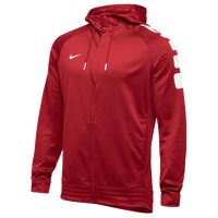 Nike Team Elite Stripe Full Zip Hoodie - Men's - Red / White