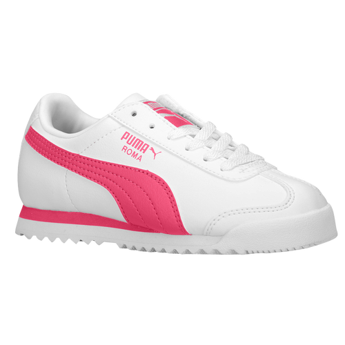Puma Roma Girls Grade School Casual Shoes White