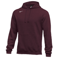 Nike Team Club Fleece Hoodie - Men's - Maroon / Maroon