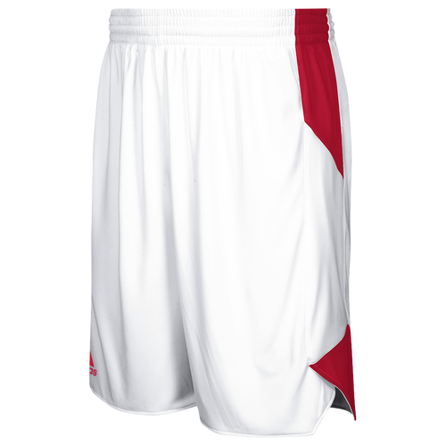 adidas Team Crazy Explosive Shorts - Men's Basketball - White/Power Red 3561104
