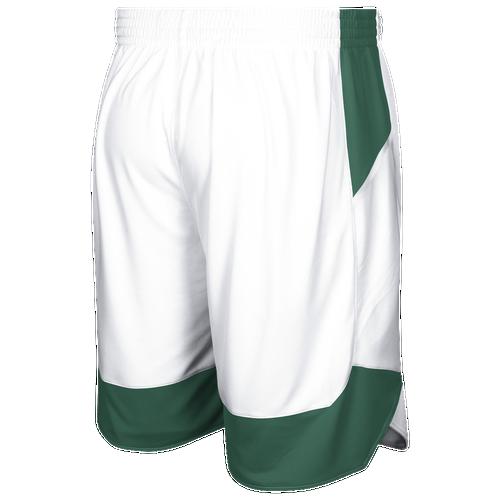 adidas Team Crazy Explosive Shorts - Men's Basketball - White/Dark Green 3561108