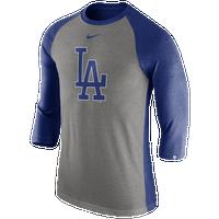 Nike MLB 3/4 Raglan T-Shirt - Men\u0027s - Los Angeles Dodgers -