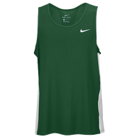 Nike Team Dry Miler Tank - Men's - Dark Green / White