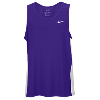 Nike Team Dry Miler Tank - Men's - Purple / White