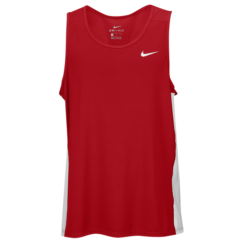 248d32d5a86523 high-quality Nike Team Dry Miler Tank Mens Track   Field Clothing Scarlet  White