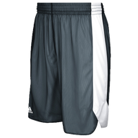 adidas Team Crazy Explosive Reversible Shorts - Men's - Grey / White