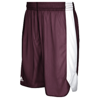 adidas Team Crazy Explosive Reversible Shorts - Men's - Maroon / White