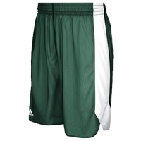 adidas Team Crazy Explosive Reversible Shorts - Men's - Dark Green / White