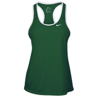 Nike Team Dry Tank - Women's - Dark Green / White