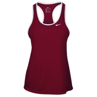 Nike Team Dry Tank - Women's - Maroon / White