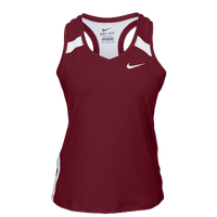 Nike Team Power Stock Race Day Tank - Women's - Cardinal / White