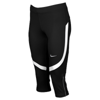 Nike Team Power Stock Race Day Capris - Women's - Black / White