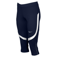 Nike Team Power Stock Race Day Capris - Women's - Navy / White