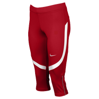 Nike Team Power Stock Race Day Capris - Women's - Red / White