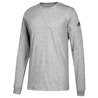 adidas Team Long-Sleeve Logo T-Shirt - Men's - Grey / Grey
