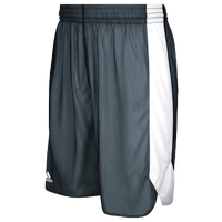 adidas Team Crazy Explosive Reversible Shorts - Boys' Grade School - Grey / White