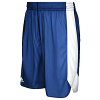 adidas Team Crazy Explosive Reversible Shorts - Boys' Grade School - Blue / White