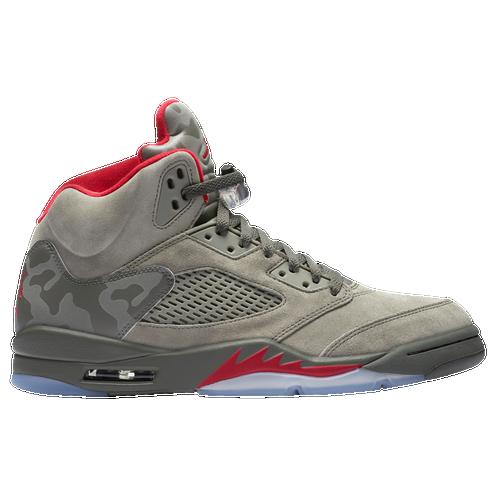 Jordan Retro 5 - Men's - Basketball - Shoes - Dark Stucco/University  Red/River Rock/Bio Beige
