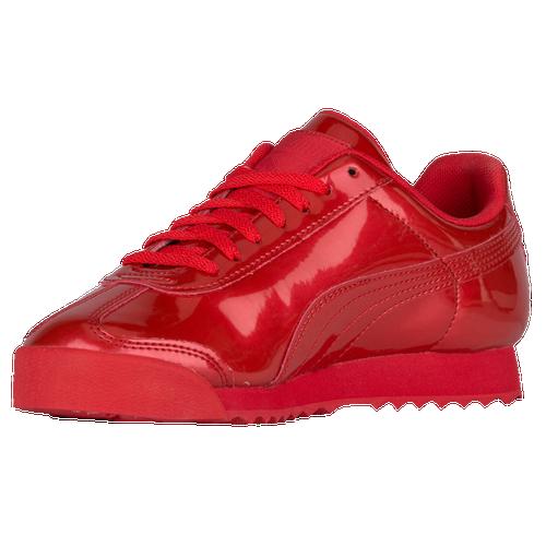 a739d0336131 authentic all red pumas 4b4c4 e5f11  usa puma roma boys grade school casual  shoes high risk red white 72e92 8bb32