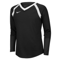 Nike Team Agility Long Sleeve Jersey - Girls' Grade School - Black / White