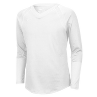 Nike Team Agility Long Sleeve Jersey - Girls' Grade School - All White / White