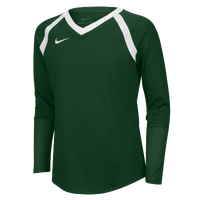 Nike Team Agility Long Sleeve Jersey - Girls' Grade School - Dark Green / White