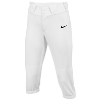 Nike Team Diamond Invader 3/4 Pants - Girls' Grade School - All White / White