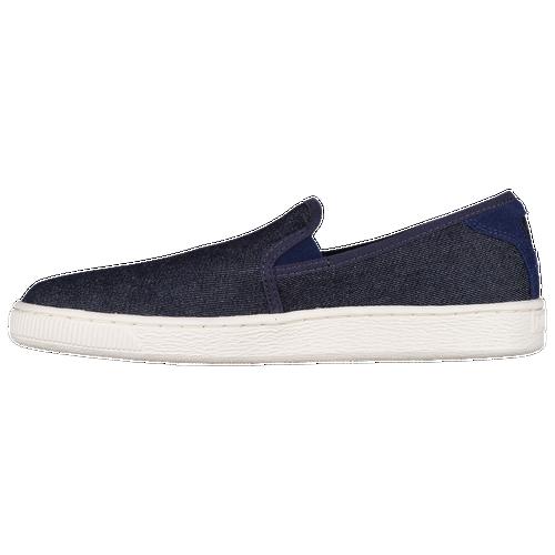 puma basket classic slip on men 39 s casual shoes twilight blue. Black Bedroom Furniture Sets. Home Design Ideas