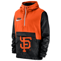 Nike MLB Workout 1/2 Zip Anorak Jacket - Men's - San Francisco Giants - Black / Orange