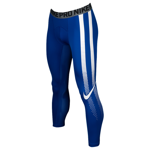 Nike Hypercool 3/4 Compression Tights - Men's Football - Game Royal/White 37181475