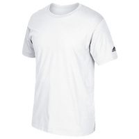 adidas Team Short Sleeve Logo T-Shirt - Men's - All White / White
