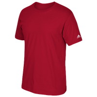 adidas Team Short Sleeve Logo T-Shirt - Men's - Red / Red