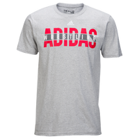 adidas Wrestling T-Shirt - Men's - Grey / White