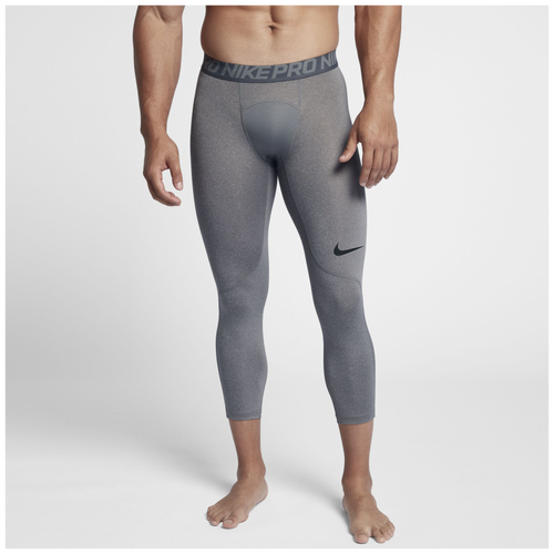 Nike Pro 3/4 Compression Tights - Men's - Training - Clothing - Carbon  Heather/Dark Grey/Black