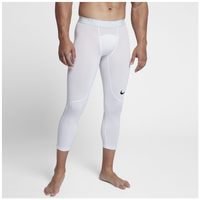 Nike Pro 3/4 Compression Tights - Men's - White / Grey
