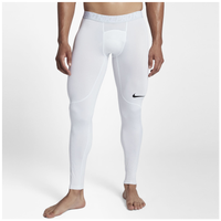 Nike Pro Compression Tights - Men's - White / Grey