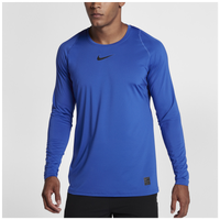 Nike Pro Fitted Long Sleeve Top - Men's - Blue / Blue