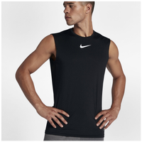 Nike Pro Fitted Sleeveless Top - Men's - All Black / Black