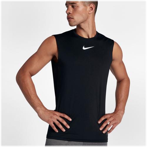 Nike pro fitted sleeveless top men 39 s training for Nike men s pro cool sleeveless shirt