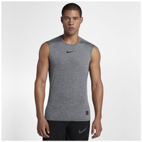 f7cc236c48ecf Nike Pro Fitted Sleeveless Top - Men s - Grey   Grey