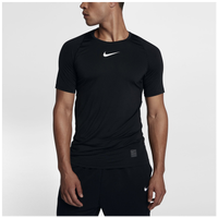 Nike Pro Fitted Short Sleeve Top - Men's - All Black / Black
